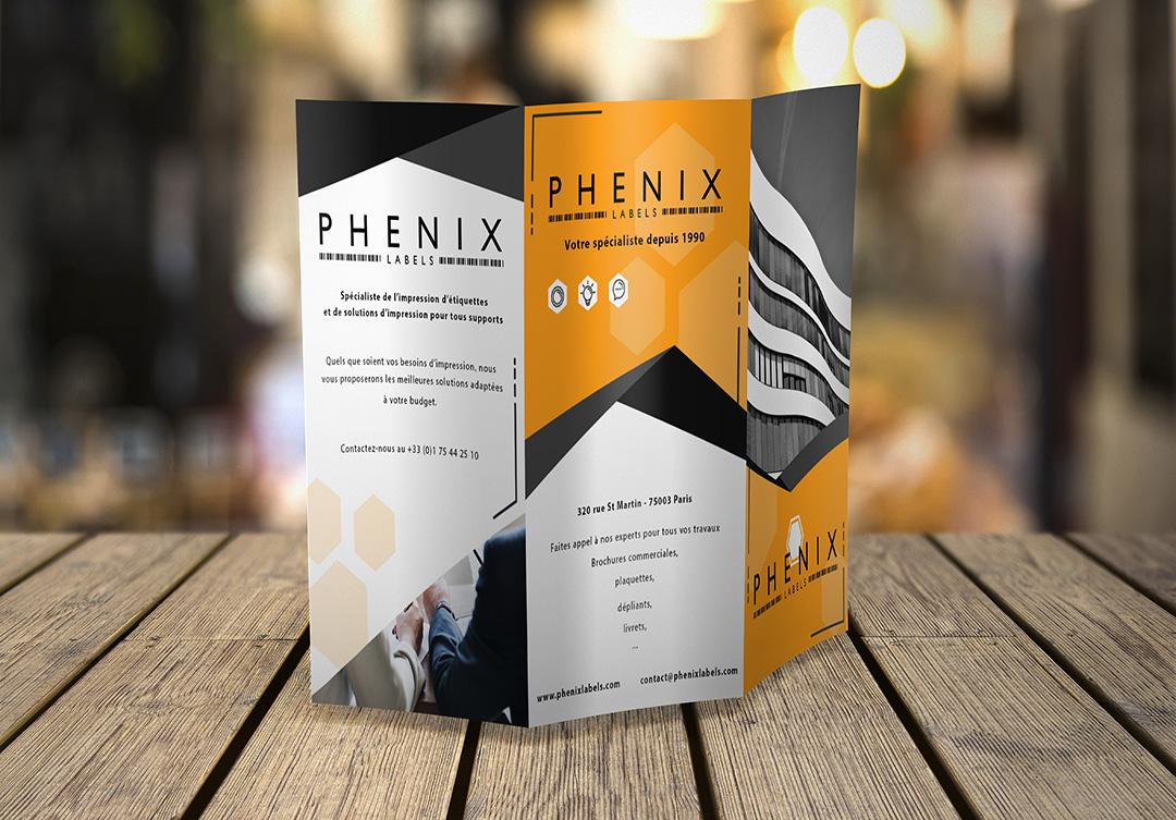Impression Brochures-Phenix Labels